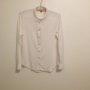 Ann Taylor Long Sleeve Button Up Blouse